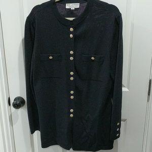 St. John Knit Black Formal Sweater/Jacket/Cardigan